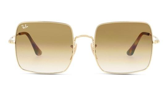Square RB 1971 Unisex Sunglasses Brown / Gold