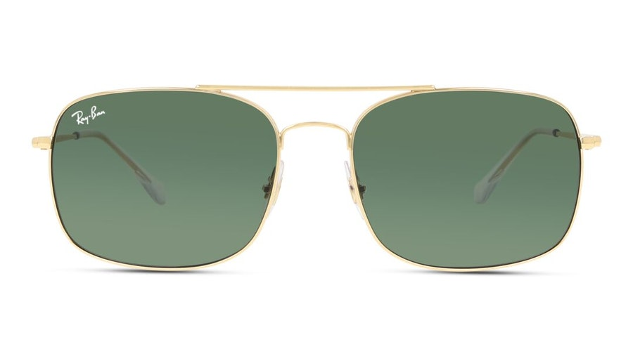 Ray-Ban RB 3611 (001/31) Sunglasses Green / Gold