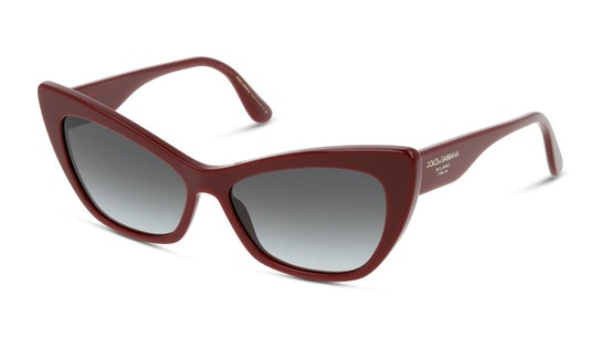 DG 4370 (30918G) Sunglasses Grey / Burgundy