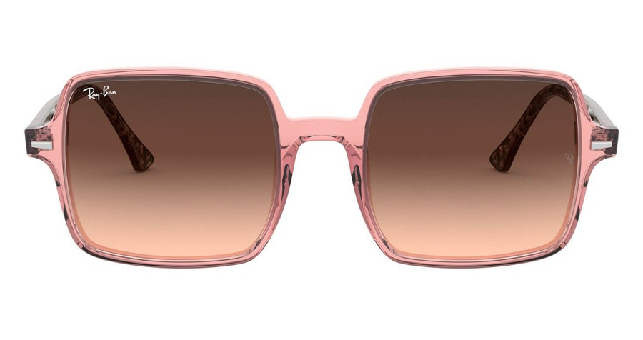 Ray-Ban Square II RB 1973 Woman's Sunglasses Brown/Pink