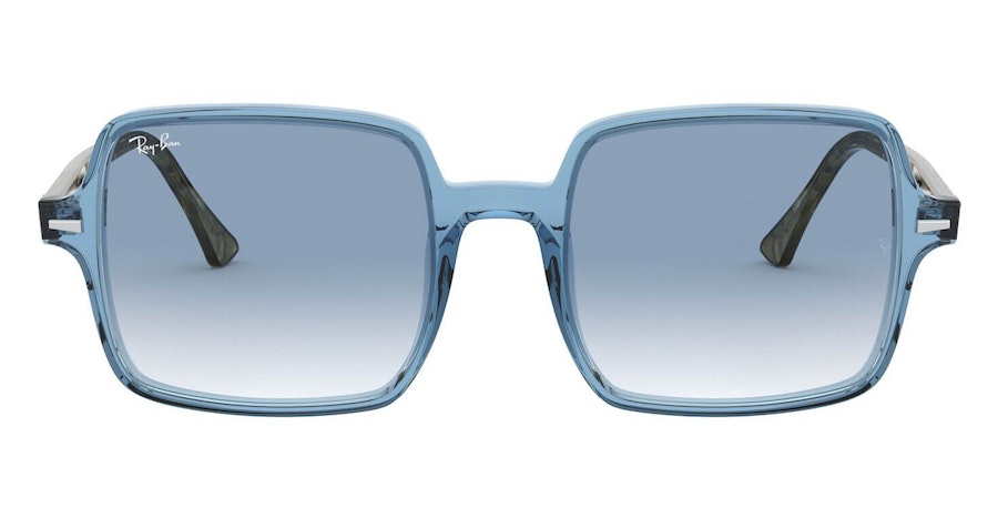 Ray-Ban Square II RB 1973 Woman's Sunglasses Blue/Blue