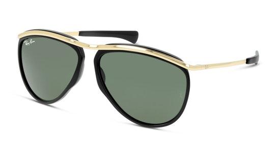 Olympian Aviator RB 2219 (901/31) Sunglasses Green / Black