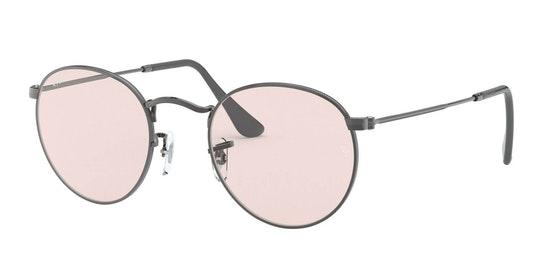 Round Metal RB 3447 (004/T5) Sunglasses Pink / Grey