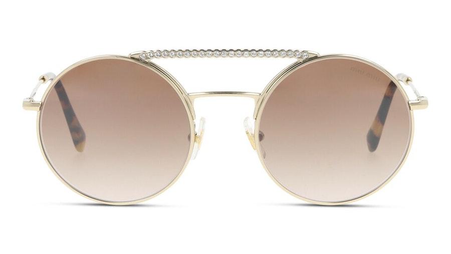 Miu Miu MU 52VS (ZVNQZ9) Sunglasses Brown / Gold