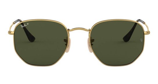 Hexagonal RB 3548N (001/58) Sunglasses Green / Gold