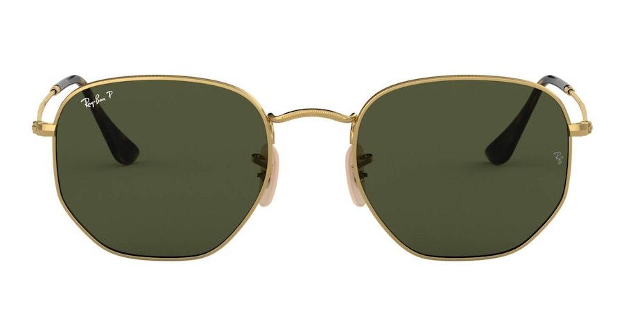 Ray-Ban Hexagonal RB 3548N Men's Sunglasses Green / Gold