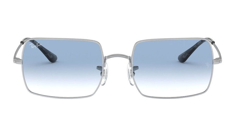 Ray-Ban Rectangle RB 1969 Unisex Sunglasses Blue / Silver