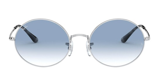 Oval RB 1970 Unisex Sunglasses Blue / Silver