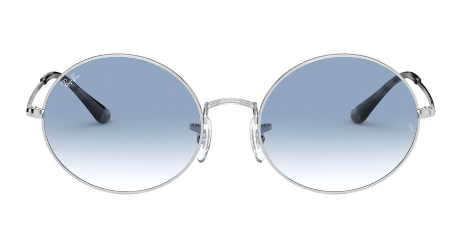Ray-Ban Oval RB 1970 (91493F) Sunglasses Blue / Silver