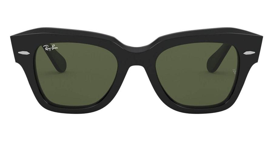 Ray-Ban State Street RB 2186 (901/31) Sunglasses Green / Black
