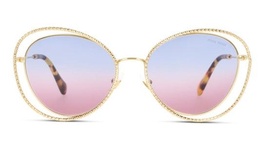 MU 59VS Women's Sunglasses Violet / Gold