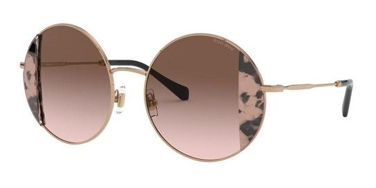 MU 57VS Women's Sunglasses Brown / Gold