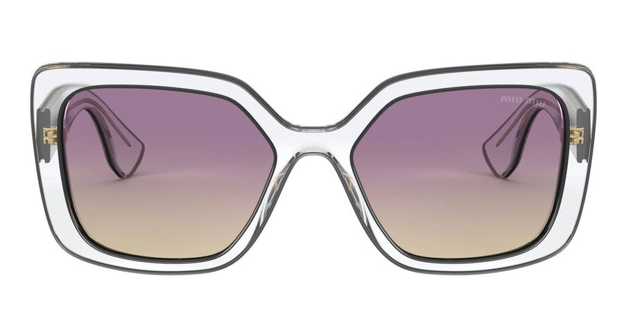 Miu Miu MU 09VS Women's Sunglasses Violet / Transparent