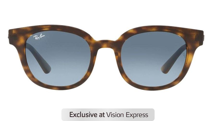 Ray-Ban RB 4324 Unisex Sunglasses Blue / Havana