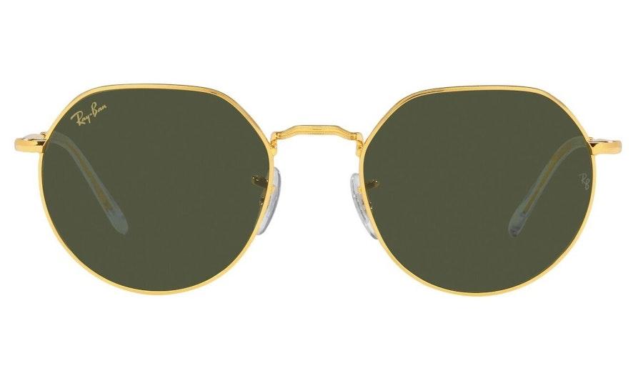 Ray-Ban Jack RB 3565 (919631) Sunglasses Green / Gold