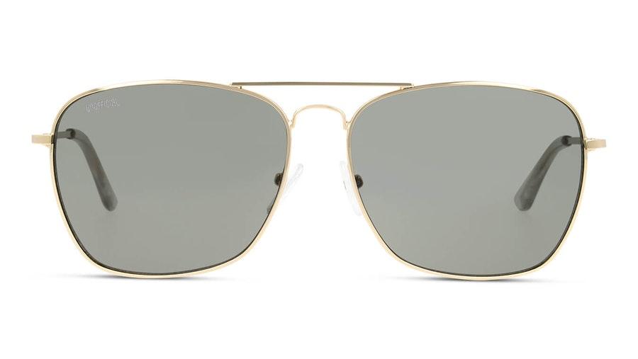 Unofficial UNSM0017 Men's Sunglasses Green / Gold