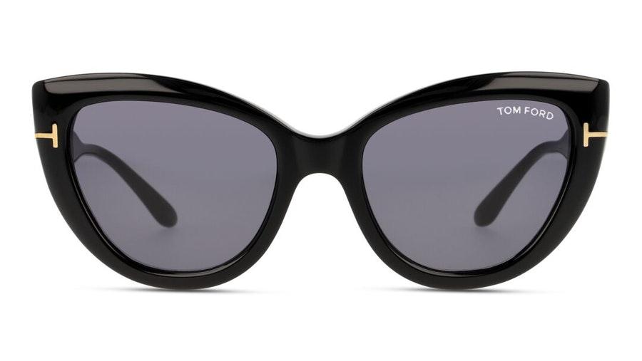 Tom Ford Anya FT 762 (01A) Sunglasses Grey / Black