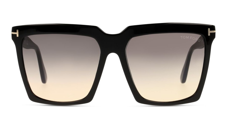 Tom Ford Cybil FT 764 (01B) Sunglasses Grey / Black