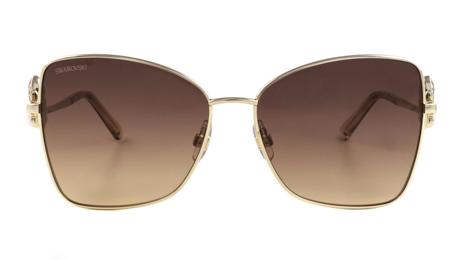 Swarovski SK 0277 Women's Sunglasses Brown / Gold