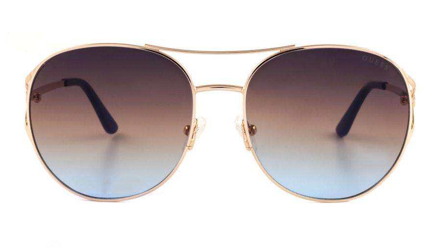 Guess GU 7686 Women's Sunglasses Blue / Gold