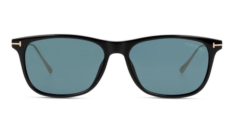 Tom Ford Caleb FT 813 (01V) Sunglasses Blue / Black