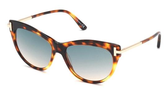 Kira FT 821 (55P) Sunglasses Green / Havana