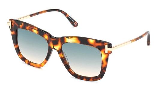 Dasha FT 822 (55P) Sunglasses Green / Havana