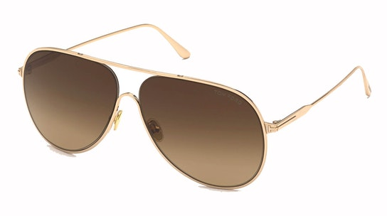 Alec FT 824 (28F) Sunglasses Brown / Rose Gold