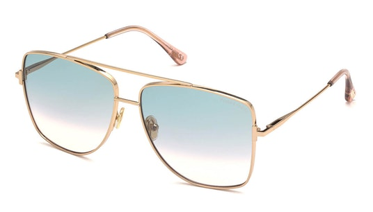 Hayden FT 838 (28P) Sunglasses Green / Rose Gold
