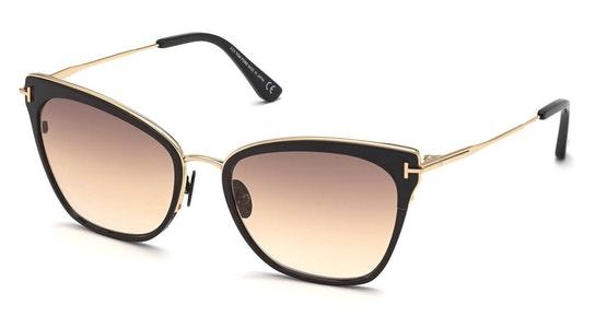 Hayden FT 843 (01F) Sunglasses Brown / Black