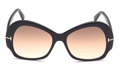 Zelda FT 874 (01G) Sunglasses Brown / Black