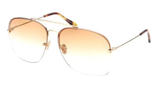 Mackenzie-02 FT 883 (30F) Sunglasses Brown / Gold