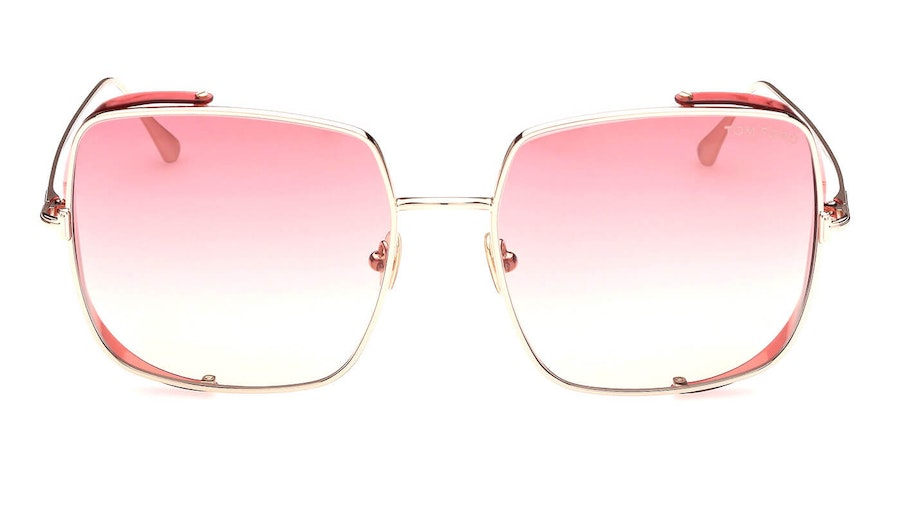 Tom Ford Toby-02 FT 901 (28T) Sunglasses Pink / Rose Gold