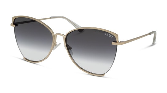 Dusk to Dawn QW-000412 (GLD/SMK) Sunglasses Grey / Gold