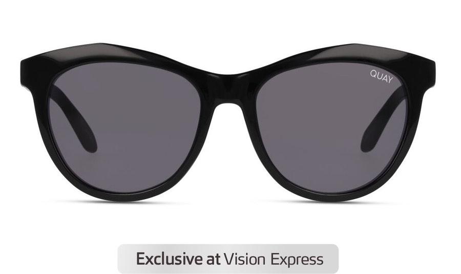Quay Drop Top QW-000877 (BLK/BLK) Sunglasses Grey / Black