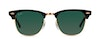 Ray-Ban CLUBMASTER RB3016 W0365-49/21 Verde/Nero,Oro