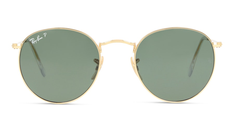 Ray-Ban ROUND METAL RB3447 001/58 Verde/Oro
