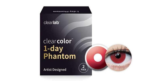 Clearcolor 1-Day Phantom Red Vampire