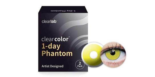 Clearcolor 1-Day Phantom Zombie Yellow