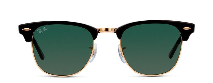 Ray-Ban Clubmaster RB3016 W0365 Verde/Preto e Dourado