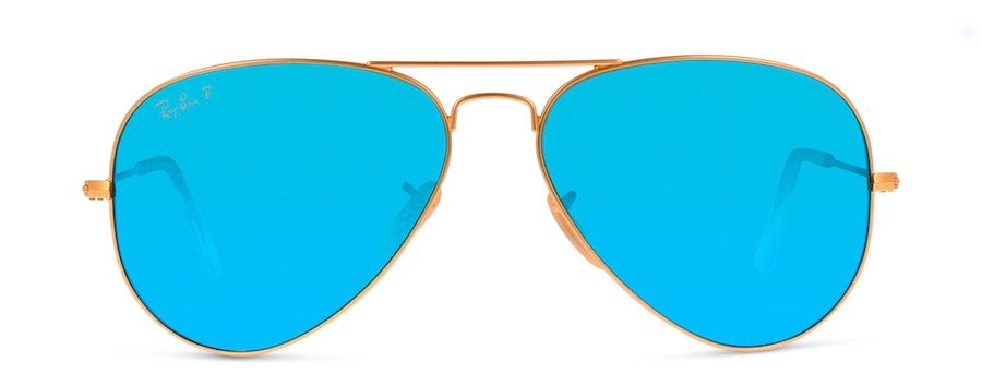 Ray-Ban AVIATOR LARGE METAL 58 RB3025 DD Azul/Dourada