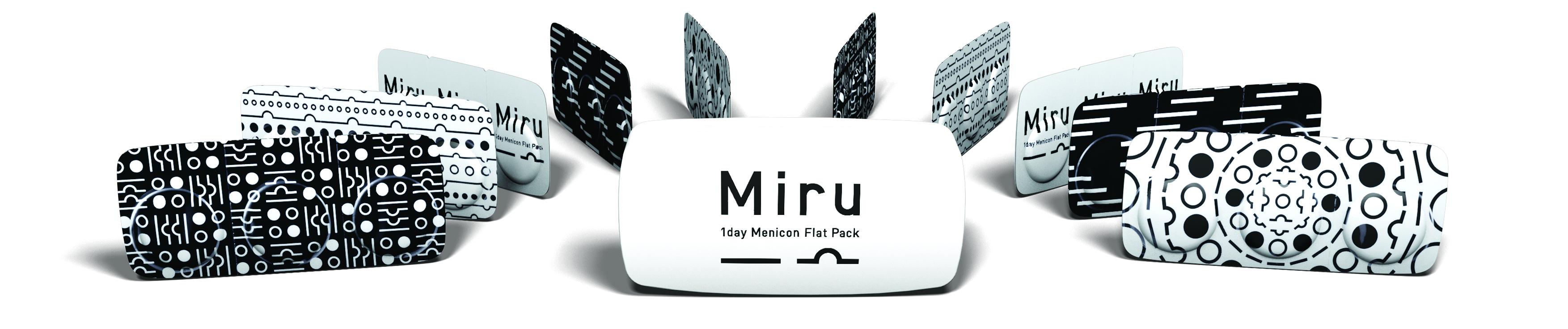 Front Miru 1 Day Flatpack