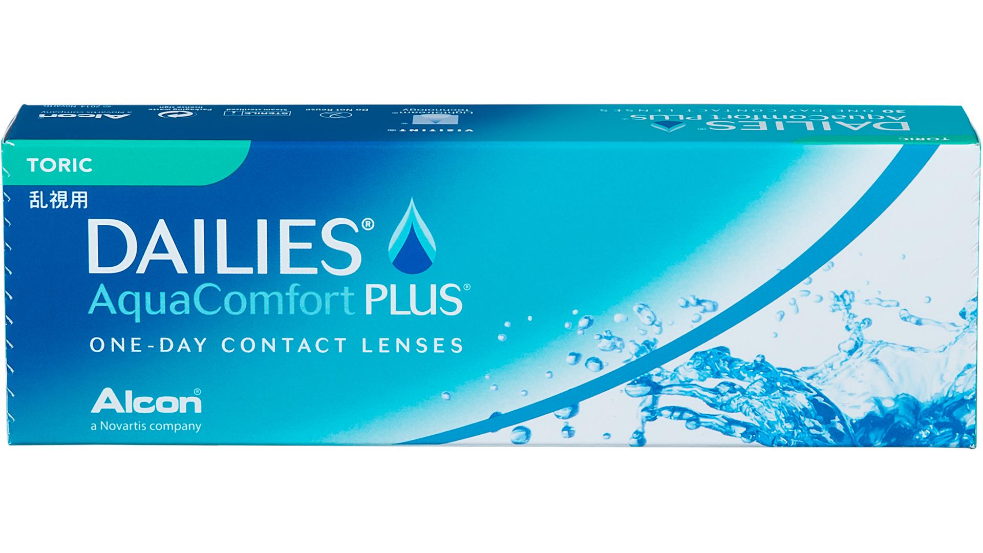 Front Dailies Aqua Comfort Plus Toric