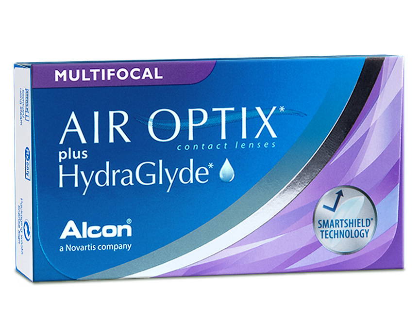 Front Air Optix Hydraglyde Multifocal
