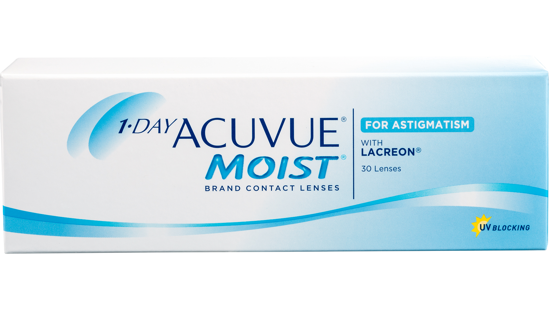 Front 1-day ACUVUE® Moist for astigmatism