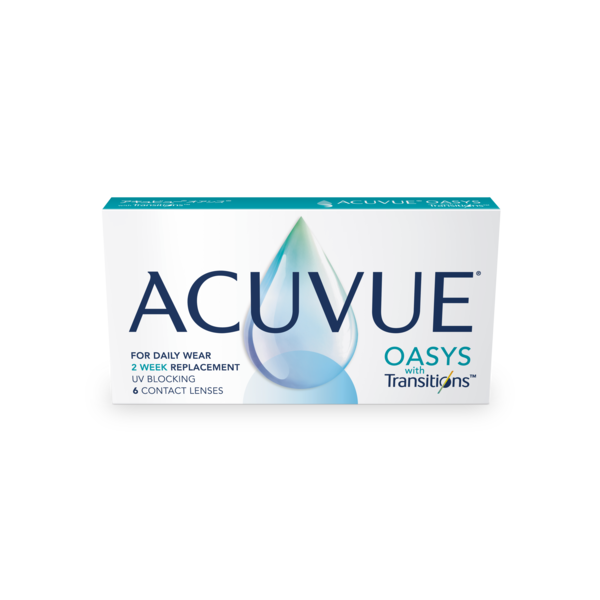 Front ACUVUE® Oasys with Transitions