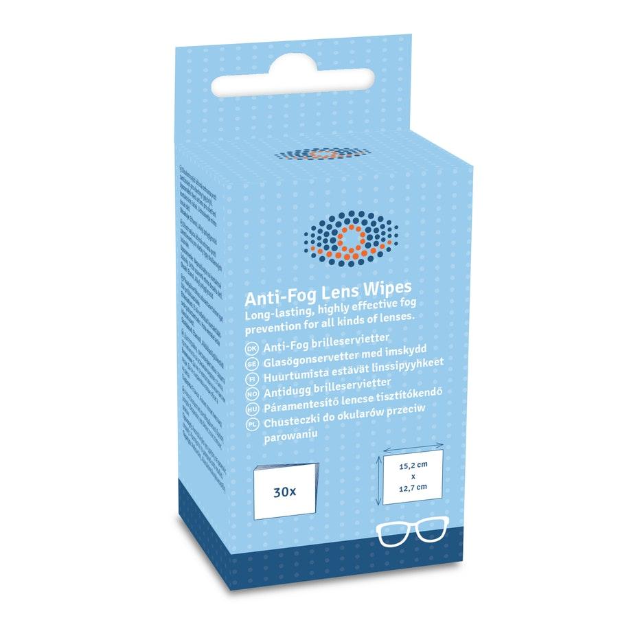 Tilbehør Anti-Fog Lens Wipes (1=20)