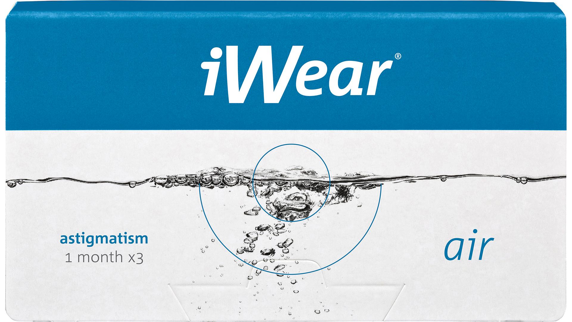 Front iWear air astigmatism